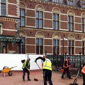 Eén dag voor opening Rijksmuseum: VOER ging kijken