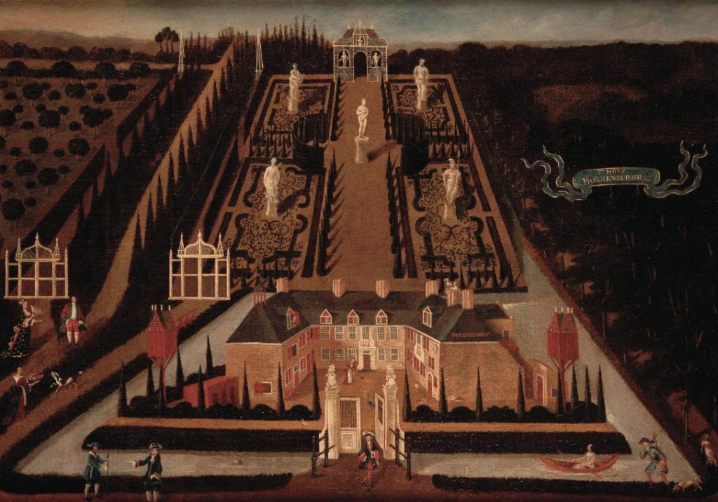 Anoniem olieverfschilderij 'T Huys Moerenburgh', circa 1700. Collectie Noordbrabants Museum