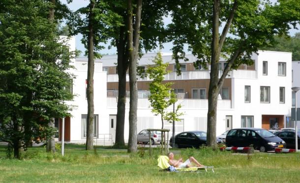 Project Cadiz Amsterdam Osdorp succesvolle combinatie groen en nieuwbouw. foto: Stadsdeel Nieuw-West