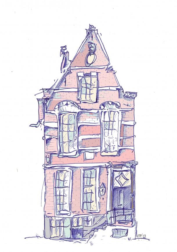 Het vergeten rijtjeshuis. Illustratie: Maurits van Putten