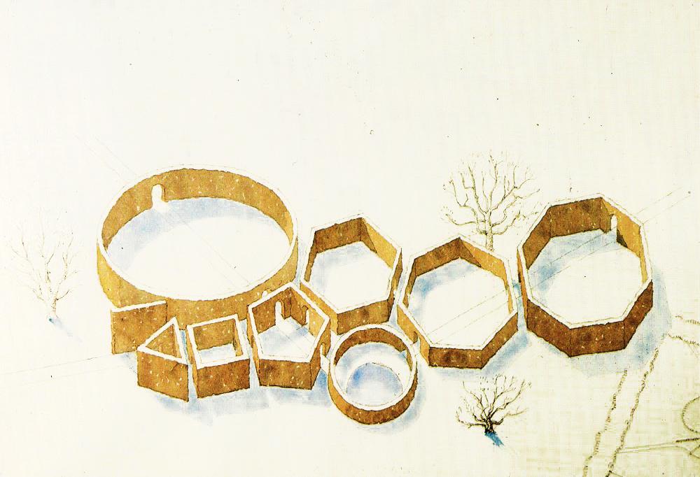 Ontwerp geometrische tuin C. Th. Sørensen