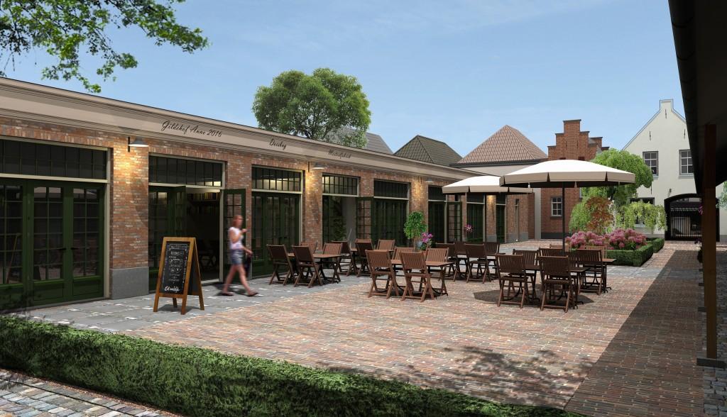 Verbeelding van uitbreiding van het Gildehof, Doesburg. Beeld: Bouwaandeel