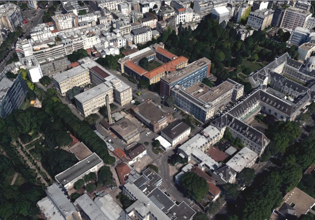 Voormalig ziekenhuiscomplex St. Vincent De Paul, Parijs.