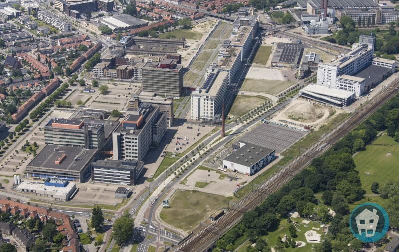 Strijp-S in 2015/2016 met veel leegte. Bron: Nieuwbouw Eindhoven