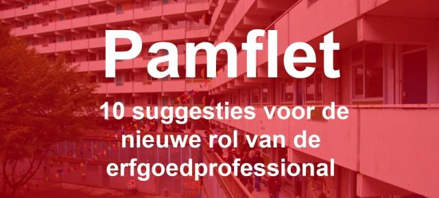 Pamflet Nieuwe rol Erfgoedprofessional